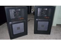 2 jvc sp1 flat bass cone speakers