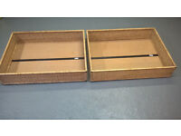 **REDUCED** £10 for 2 x Ikea Rattan under bed storage boxes