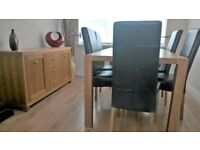 Dining table, 6 Chairs and matching Sideboard all in excellent condition