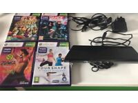 Xbox 360 Kinnect with games in ex cond