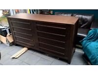 Marks & Spencers Sonoma Dark bedside tables and large chest of drawers