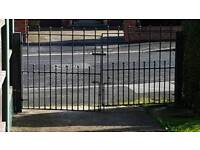 Pair Of Iron Gates And Posts