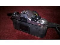 PENTAX ME SUPER camera , 28mm lense with full black leather case