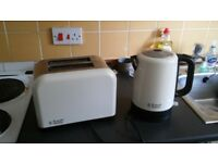 Russell Hobbs Cream Kettle and matching toaster