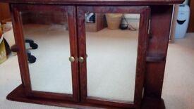 Mirrored wooden bathroom cabinet