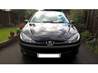 PEUGEOT 206 S 5 DOOR 1.1 IN BLACK LOW MILEAGE IN VGC £995 ONO