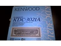 Kenwood KDC-3021A Car CD receiver. Unused, still in box, manuals included