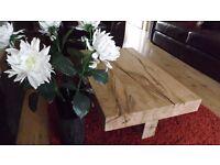 Bespoke Rustic Oak Coffee Table £250.00 (Brand new)