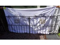 Set Of Double Driveway Solid Iron Gates