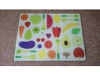 Fruity glass chopping board excellent condition