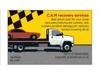 BEST PRICES PAID FOR YOUR UNWANTED/SCRAP VEHICLES