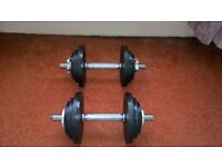 Brand New Golds Gym 20kg Cast IronDumbell Set