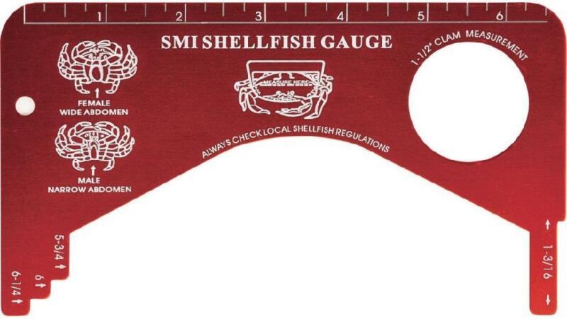 SMI Aluminum Shellfish Gauge Crab Shrimp Clam #19106