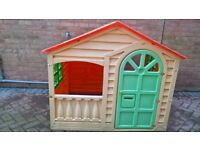 Outdoor plastic playhouse-sold complete