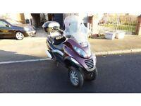 very low mileage vespa Piaggio mp3 250 scooter trike like fuoco 500 yourban 300 metropolis 400