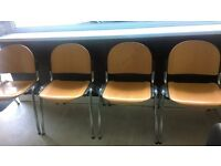 beech wood and chrome chairs