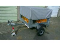 Erde 102 Trailer + high extension kit