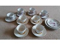 Mismatched china tea cups wedding decor