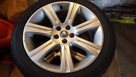 "Jaguar XF 18"" Venus Alloy wheels and tyres full size spare"