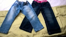 +++GIRL'S JEANS 3-4,4 Y-NEXT & GEORGE-IN VGC +++