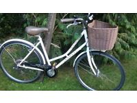 ladies dawes duchess 19 in frame 7 speed step through with basket,runs perfectly,tidy bike