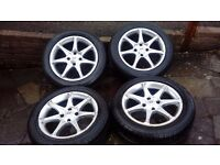 """16"""" ALLOY WHEELS WITH GOOD 205 55 16 TYRES FORD CITROEN PEUGEOT"""