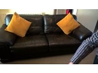 real leather 3 seat sofa