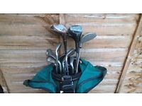 Old Set of Golf Clubs and Golf Bag