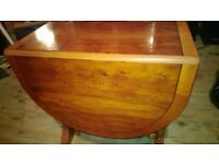 Lovely Occasional YEW drop leaf table light deep polish