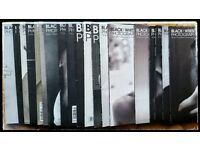 BLACK+WHITE PHOTOGRAPHY UK magazine back copies (all of 2014 & 10 from 2013) very good condition