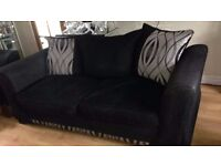 Black & Grey '3 seater' and two '2 seater' sofas for sale £150 ONO FOR ALL THREE ALTOGETHER