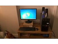 Desktop computer,22inch monitor,keyboard,mouse Speakers