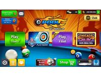 8 ball pool account 500 million coins with Legendary cue