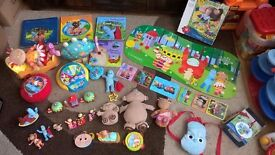In the Night Garden Massive Bundle: Ninky Nonk train, figures, soft toys, Piny Ponk, books (Set1)