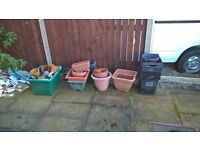 Various size plant pots free for collection