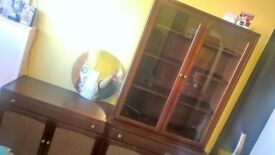 old charm furniture set of two display cabinet and matching sideboard delivery avalible