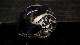Used motorcycle helmet