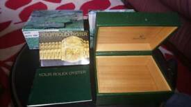 Genuine rolex box with booklets and tag