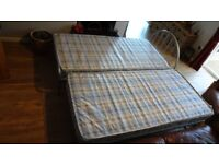 3ft Single Metal Bed with 3ft Trundle Guest Bed