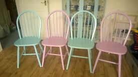 Shabby chic set of 4 beautiful chairs (REDUCED)