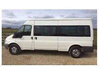 Ford Transit, 2.4 RWD, LWB, Semi high roof, DVLA 9 seater, 180k