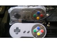 SNES Super Nintendo & Sega Mega Drive Emulators 1700+ Games & SNES Controller