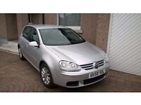 VOLKSWAGEN GOLF 2008, 1.9 TDI MATCH, 5d, VGood Condition, Low Milage, 1 Previous Owner (motability)