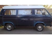 VW T25 pop-up roof campervan - ready to go with 12 months MOT