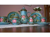 Blue floral Ceramic Antique Coffee Set