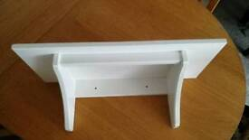 Small white ikea shelf unit