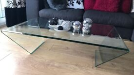 BN Curvo bent glass coffee table from furniture village