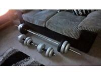 York 50kg Vinyl Barbell/Dumbell Set