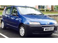 2002 (JAN02) FIAT 1.2 PUNTO - FULL SERVICE HISTORY - 5 DOORS - PETROL - MANUAL - BLUE