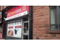 SHOP TO LET DUMBARTON ROAD YOKER GLASGOW WITH ALCOHOL PREMISES LICENCE